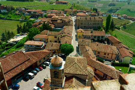 Town of Barbaresco, famous Piedmont winemaking area, Italy.