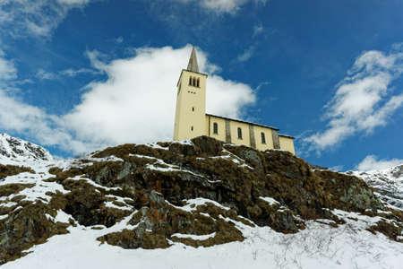 Church near Lago di Morasco - Northern Piedmont, Italy Stock Photo