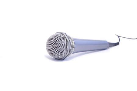radio unit: Microphone, isolated on white background Stock Photo