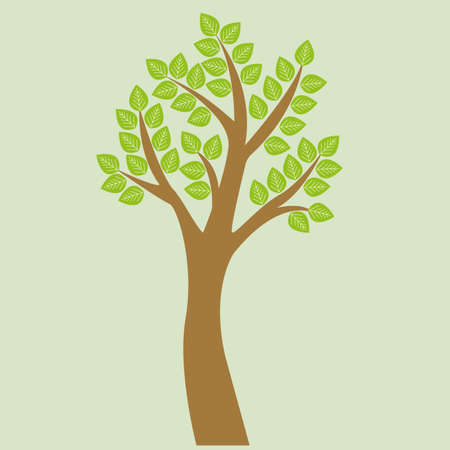 lush foliage: Vector tree. Tree with lush foliage and green foliage. Illustration