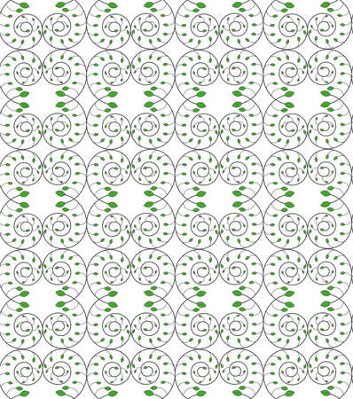 Vector seamless texture of the branches of a plant decorated with both each other and the scrolling on a white background Illustration
