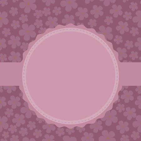 posting: Vector, label, frame in delicate shades with a blank space for posting photos or text, on a festive theme