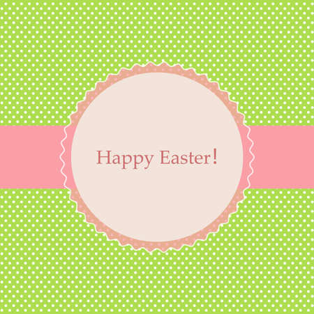 Vector card with a festive theme to celebrate the feast of Easter. Theres space for photo or text.