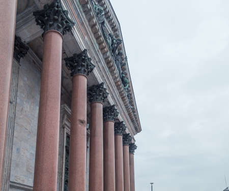 Colonnade of St. Isaacs Cathedral in St. Petersburg