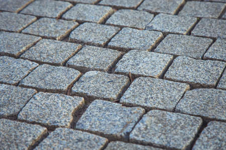 old pavement close up on the street