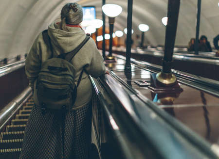 people in the subway in Europe close-up