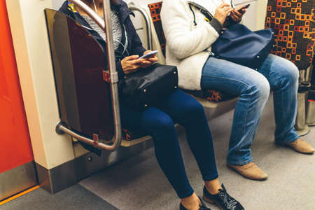 people in the subway  train in Europe