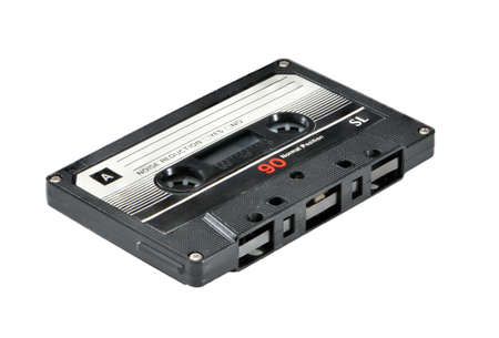 Audiocassette isolated on white background