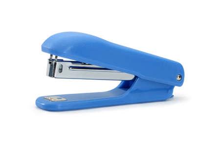 stapler: Blue office stapler isolated on a white background