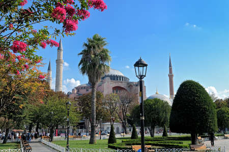 View of Hagia Sophia, Christian patriarchal basilica, imperial mosque and now a museum (Ayasofya in Turkish), Istanbul, Turkey