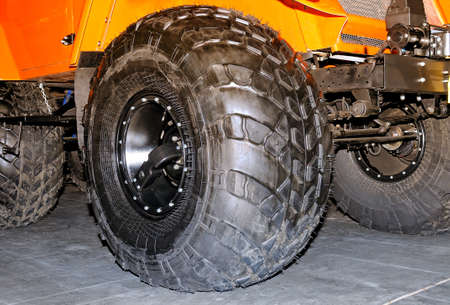 Big wheels of the car of the all-terrain vehicle