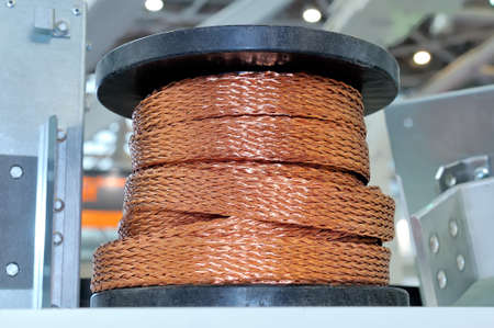 Cable reel of copper power cable.