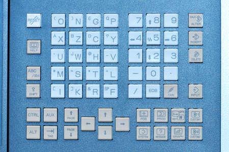 Knopfschalter des Bedienfeldes industrielle Tastatur zur Einstellung der Parameter der Maschine im Werk Standard-Bild - 85159777