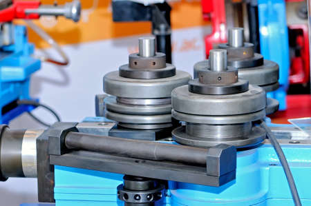 The industrial device for bending of metal pipes and plates