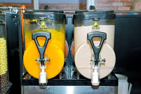 Dispenser for preparation of cold fruit drinks