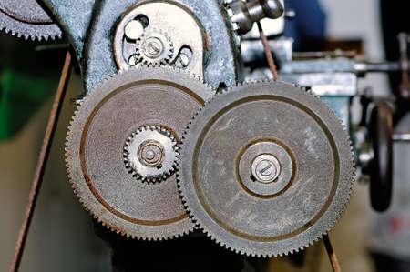Rostige Gänge des alten industriellen Mechanismus.