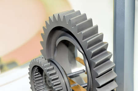 Two industrial gears of different sizes. Standard-Bild