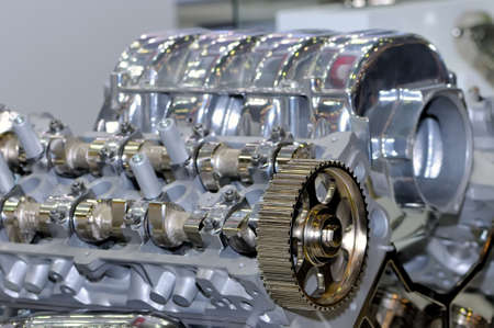 Metal model of the internal combustion engine. Small depth of sharpness Standard-Bild