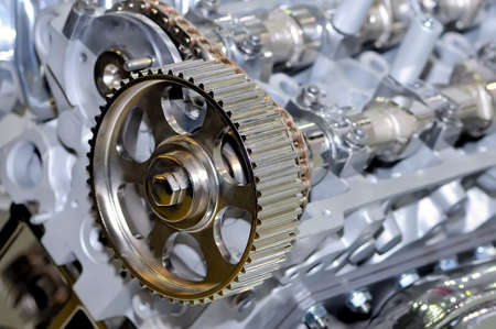 Metal model of the internal combustion engine. Small depth of sharpness Standard-Bild