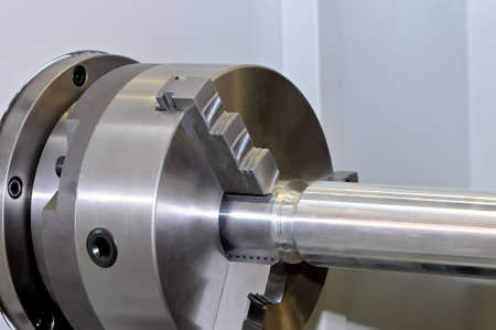 Spindle and a clamping mechanism for turning lathe. Standard-Bild