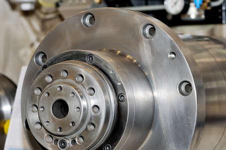 Spindel für Industriemaschinen runde Form. Nahaufnahme