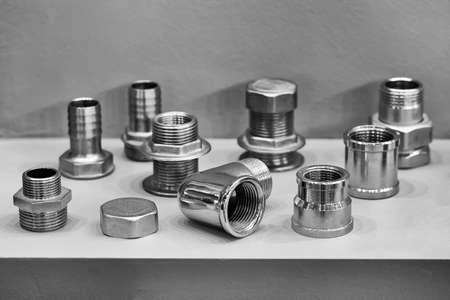 A variety of plumbing pipe connectors