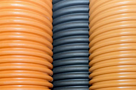 Plastic corrugated pipes for water supply, sewage, plumbing.