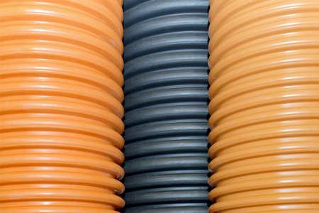 Tuberías de plástico corrugado para suministro de agua, alcantarillado, plomería.