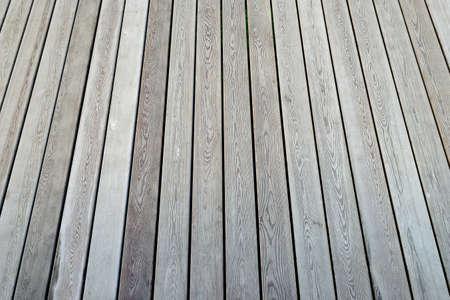 Wooden flooring, view in perspective.