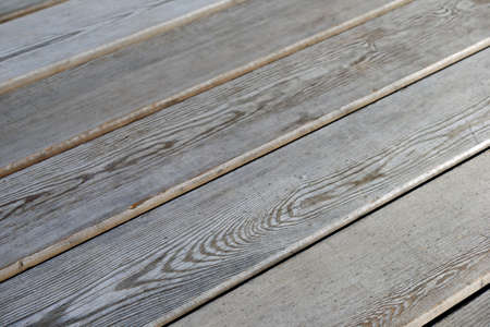 Wooden flooring, side view.