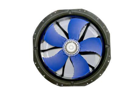 Large electric industrial fan isolated on a white