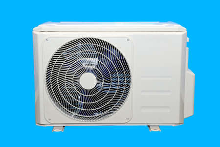 External unit from domestic household air conditioner.