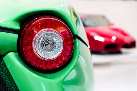 detail of a supercar rear light Stock Photo
