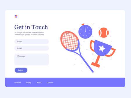 Tennis feedback page Иллюстрация