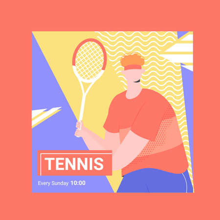 Banner for competitions or training in tennis. Иллюстрация