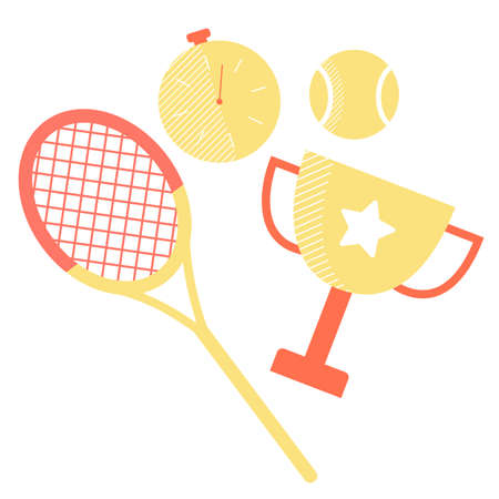 Set of sports equipment Иллюстрация
