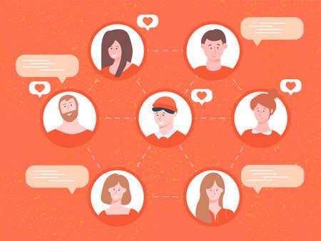Communication between people in social networks. Illusztráció