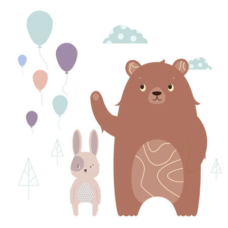 Hare and bear.