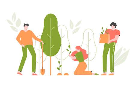 Reforestation, planting new trees