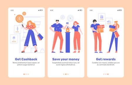 Onboarding finance mobile application. Çizim