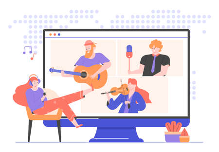 Online concert of famous musicians and singers.