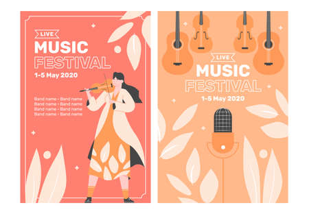 Two poster templates for a music festival.