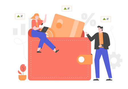 Business financial illustration.