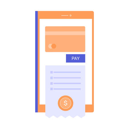 Mobile banking application and e-payment. Çizim