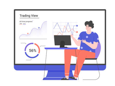 Personal investment. Web application for a trader. Stock Illustratie