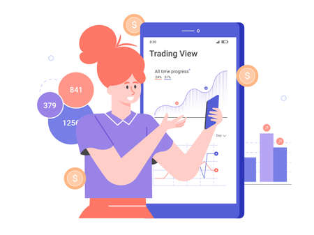 Personal investment. Mobile application for a trader.