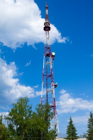 Communications Tower against the sky photo