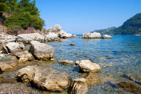 rocky beach of the sea gulf  Marmaris  Turkey Stock Photo - 14505132