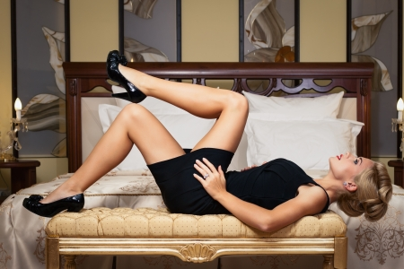 Elegant fashionable woman with diamond jewelry  Fashion shoot