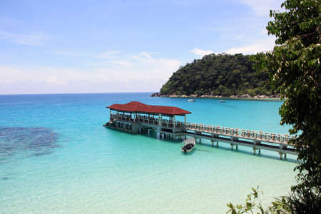 Jetty at Perhentian Island Malaysia Stock Photo